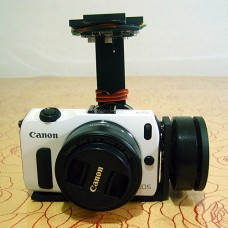 FPV Metal Brushless Motor Camera Mount Gimbal PTZ Complete Kit for EOSM DSLR Camera Aerial Photography