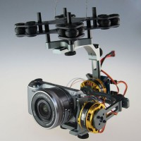 Cloud-Nex FPV Brushless Camera Gimbal Alloy Aerial Photography Camera PTZ for DSLR Sony Nex Gimbal