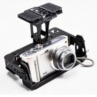 X-CAM Carbon Fiber Camera Gimbal Mount PTZ CM140 Universal Version for GOPRO Sony NEX5 Camera
