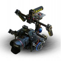 Multicopter 2-Axis Camera Gimbal Stabilized Mount Tile/Roll Photography Camera PTZ with Servos
