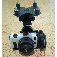 FPV 3-Axis Brushless Camera Mount Gimbal PTZ Complete Kit for EOSM DSLR Camera Aerial Photography