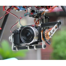 2-Axis Brushless Gimbal Camera Mount+Gimbal Control +Motor for 7N Mini DLSR Cameras Aerial Photography