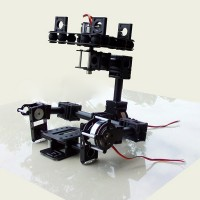 LG-002 3 Axis FPV Brushless Motor Brushess Gimbal  for 5N/7N/GH2 Mini DSLR Camera (Compatible with 4008 Motor)