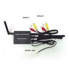 AOMWAY FPV 5.8G 500mw Receiver RX VTR 15CH Telemetry Fatshark ImmersionRC Compatible