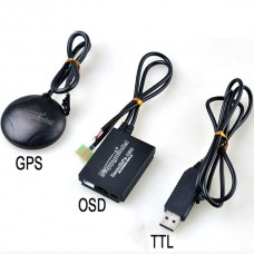FPV Remzibi OSD Multicopter OSD w/ UBlox GPS+TTL Converter Cable for APM 2.52 MWC Flight Control