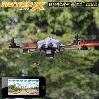 "Walkera Hoten-X Wifi Version Mini 6 CH 10"" RC Helicopter ARF Mini Quadcopter iPhone WiFi Controlled-Black"