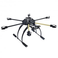 ATG 600-CRP Carbon Fiber Folding Frame Hex Rotor Hexa Multi-copter with Tall Landing Gear