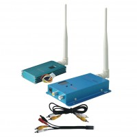 FOX-515H 1.5G 1500mW 12CH Wireless AV Tranmsitter&Receiver Audio Video Sender Telemetry Set