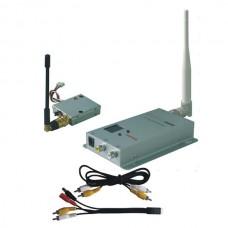 FOX-100A 1.2G 100mW 8CH TX+RX Wireless AV Tranmsitter&Receiver Audio Video FPV Telemetry Set