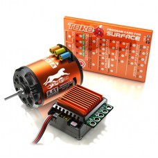 SKyRC Cheetah 1/10 CS60 60A Sensored ESC + Cheetah 3250KV/10.5T/2P Brushless Motor Program Card Combo