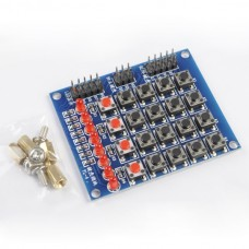 1pcs 4x5 Matrix Keyboard Buttons with Water Lights for arduino PIC AVR
