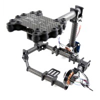 FPV Brushless Camera Gimbal for Mini SLR Sony 7N D7000/ D60 and Other Mini SLR/ DV Class Frame Kit - Carbon Fiber
