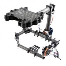 FPV Brushless Camera Gimbal for Mini SLR Sony 7N D7000/ D60 and Other Mini SLR/ DV Class Frame Kit - Carbon Fiber