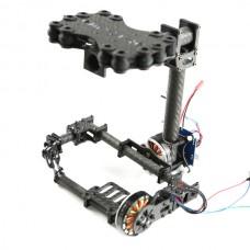 FPV Brushless Camera Gimbal for Mini SLR Panasonic GH2/ GH3 Frame Kit - Carbon Fiber V2.0