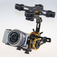 DYS Aluminium Alloy 3 Axis Brushless Gimbal Camera Mount PTZ Kit for Sony NEX ILDC Camera Aerial Photography