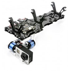 MC6500 FPV Gopro-BLG Aluminum Brushless Gimbal Aerial FPV Compelete PTZ Kit w/ Q2000S Damper Set for Gopro3 Camera