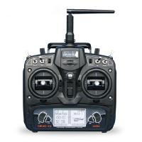Walkera DEVO10 2.4GHz 10ch Telemetry RC Transmitter w/ RX1002 Receiver Left Throttle