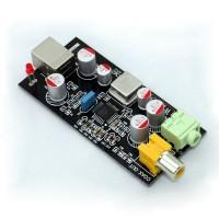 USB PCM2706 Sound Card USB to Coaxial DAC Headphone Amplifier