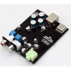 24BIT-96K USB 2.0 SA9023+OPA2132+CS4398 DAC USB TO RCA Headphone