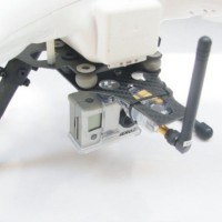 ATG DJI Phantom CF Landing skid w/ Shock Absorber AV Transmission 2 in 1 Plate (Glass Fiber)