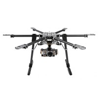 X-CAM CF6-870 High Strength Folding Multi-Copter Carbon Fiber Hexacopter Multicopter 9.5kg Load Ability
