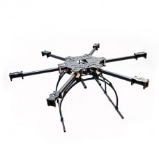 X-CAM X700 Mini High Strength Multi-Copter Carbon Fiber Hexacopter Multicopter w/ Plastic Landing Skid