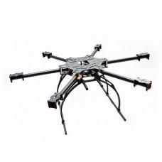 X-CAM X700 Mini High Strength Multi-Copter Carbon Fiber Hexacopter Multicopter w/ Plastic Landing Skid
