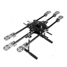 X-CAM X700 Mini Folding Multi-Copter Carbon Fiber Hexacopter Multicopter w/ CF Landing Skid