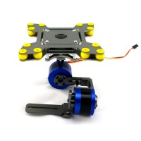 Aluminum FPV Brushless Gimbal Camera Mount PTZ Kit with Motors for ILDC Camera Aerial Photography