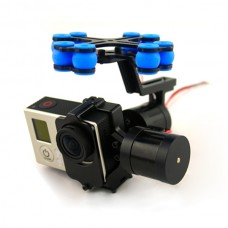 Aluminum FPV Brushless Gimbal Camera PTZ Kit w/ 2pcs Motors for Gopro 3 Camera Aerial Photography