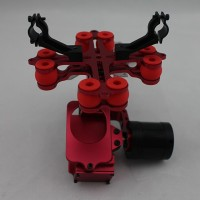 RED Aluminum FPV Brushless Gimbal Camera PTZ Kit w/ 2pcs Motors for Gopro 3 Camera Aerial Photography