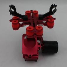 RED Aluminum FPV Brushless Gimbal Camera PTZ Kit w/ 2pcs Motors for Gopro 3 Camera Aerial Photography