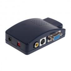 HDV201 VGA to CVBS Converter VGA to video/S-video Scan Converter