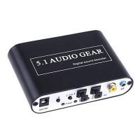 Playvision HDA-51A Digital Audio Decoder 5.1 Audio Gear DTS/AC-3/6CH Digital Audio Converter