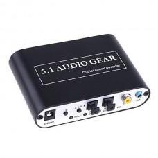 Playvision HDA-51A Digital Audio Decoder 5.1 Audio Gear DTS/AC-3/6CH Digital Audio Converter
