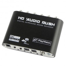 Playvision HDV-51R Digital Audio converter 5.1 Channel DTS/AC-3 Digital Surround Sound Audio Decoder
