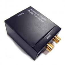 HDA-2W Analog to Digital audio converter Analog Audio Converter Adapter Black