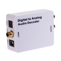 HDA212 Digital to Analog Audio Converter Mini Audio Decoder /Converts SPDIF Optical or Coaxial Digital PCM