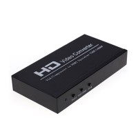 VGA + YPBPR to HDMI HDTV 1080p Converter Adapter HDV-336A with Media Player Function Via USB