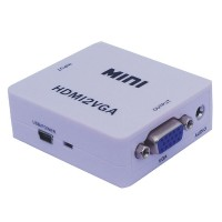 HDV-M630 HDMI2VGA MINI HDMI to VGA + Audio converter box UP SCAER 1080P