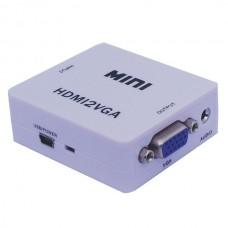 HDV-M630 HDMI2VGA MINI HDMI to VGA + Audio converter box UP SCAER 1080P