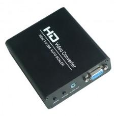 HDV-337 HDMI to VGA Scaler Converter Box with HD HDMI Digital Signal