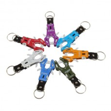 Metal Alloy Ornament Hung Mountaineering Buckle Clamper Key Ring Clipper Cabinet Hook Assorted Color