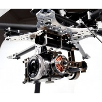 X-CAM X140B CF+Alloy 2 Axis Brushless Gimbal Two-Aixs FPV Camera Mount For Mini DSLR Camera