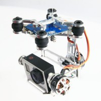 CNC Aluminum 2-axis Brushless Gimbal Frame for GoPro 2 / GoPro 3