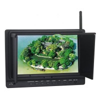 "7"" Wireless FPV/DVR HD Monitor NON-Blue Screen Under Weak Signals Built-in 5.8G Receiver 5725-5865MHz 8 Chanels"
