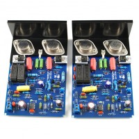 LJM QUAD405 CLONE MJ15024 Stereo 100W+100W Dual Channel Amplifier Board + Heatsink (Kit only)