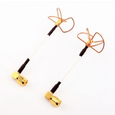 90 Degree High Precision 5.8 GHz 5645MHz Ch4 Circular Polarized Antenna Pair - SMA Plug