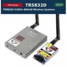 FPV-FEVER TR5832D 5.8G/600mW 32Channel Wireless Graphic Transmission PnP Systems(1 Transmitter + 1 Receiver)
