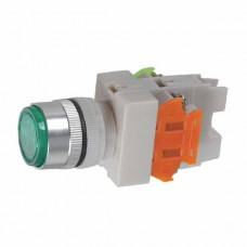 220V Signal Light 1NO 1NC Green Push Press Button Switch Locking Type